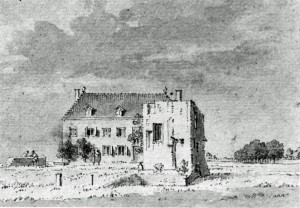 Pronk 1745 pentekening van kasteel Dukenburg