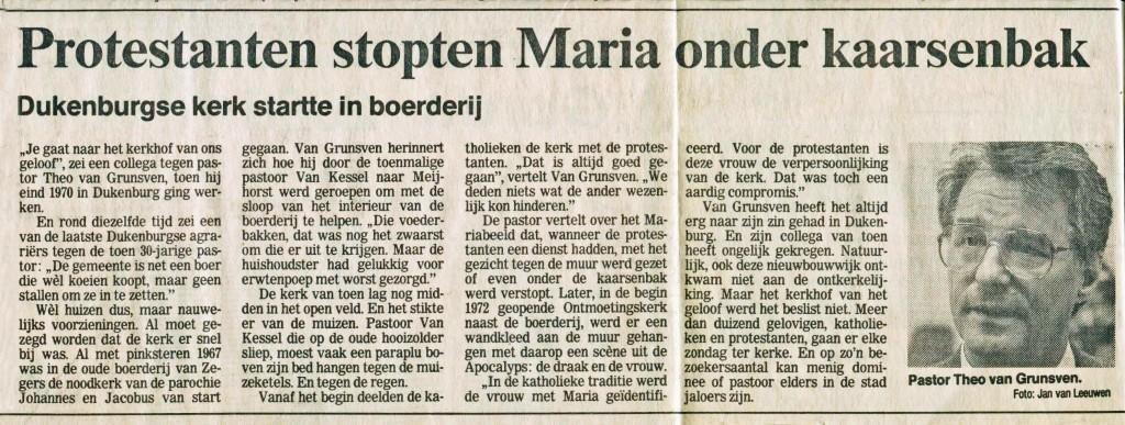 maria in de kaarsenbak 5 juli 1991 art. Gelderlander
